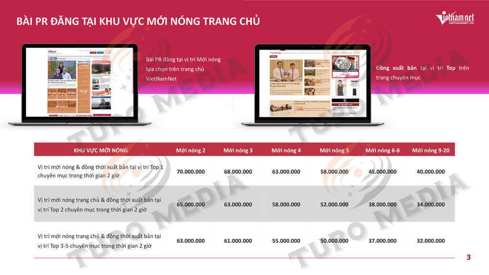 Báo giá quảng cáo VietNamNet chi tiết nhất